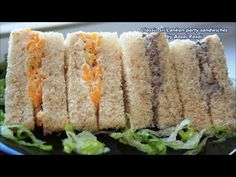SRI LANKAN PARTY SANDWICH RECIPES (Fish Sandwich & Cheese Sandwich)