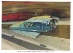 X-GM Turbine Car of the Future by Peter Wozena 1964