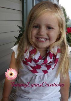Girls Hot Pink Chevron Infinity Scarf by tammylynnscreations