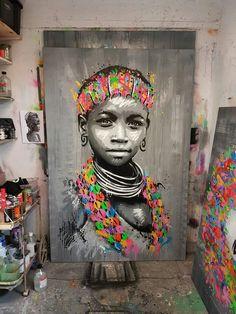 African Wall Art, African Art Paintings, African Artwork, Art Afro, Tableau Pop Art, Black Artwork, Arte Pop, African American Art, Street Art Graffiti