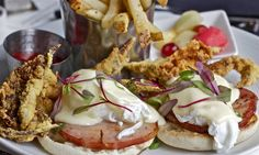 Soft Shell Crabs Benedict