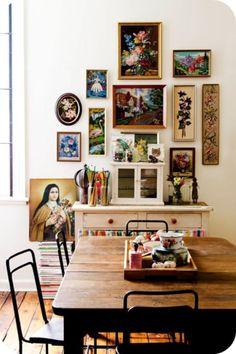 fabulous wall art layout