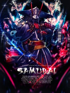 Samurai by AchzatrafScarlet on DeviantArt Gfx Design, Scott Wilson, Samurai, Medieval, Darth Vader, Military, Japanese, Deviantart, Detailed Image