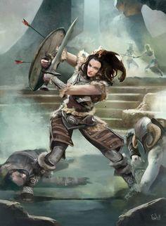 The Elder Scrolls, Elder Scrolls Skyrim, Elder Scrolls Games, Elder Scrolls Online, Elder Scrolls Oblivion, Fantasy Warrior, Fantasy Rpg, Medieval Fantasy, Warrior Girl