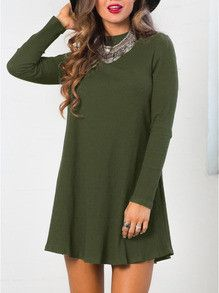 green dresses, shift dresses, casual dresses, spring dresses, summer dresses - Lyfie