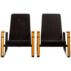 Set of Two Cite Lounge Chairs of Prouve for Vitra | From a unique collection of antique and modern lounge chairs at https://www.1stdibs.com/furniture/seating/lounge-chairs/