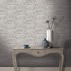 Tribal Charcoal Wallpaper | Dunelm Tribal Wallpaper, Wallpaper Decor, Wallpaper Ideas, Charcoal Wallpaper, Wallpaper Online, Contemporary Bathrooms, Living Room Modern, Living Rooms, Self Adhesive Wallpaper