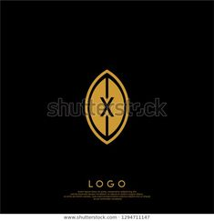 Abstract X Logo Letter Gold Leaf Stock Vector (Royalty Free) 1294711147 Leaf Shapes, Letter Logo, Shape Design, Monograms, Gold Leaf, Royalty Free Stock Photos, Lettering, Abstract, Summary