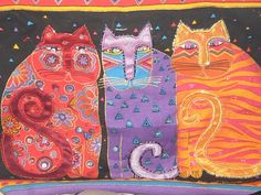 .laurel burch cats - show the laurel burch video interview as well