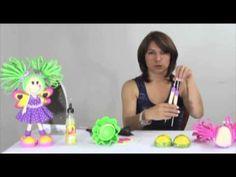 Como hacer muñecas de Goma Eva - Fofuchas -Moldes - Patrones - Foamy