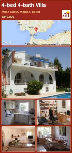 4-bed 4-bath Villa in Mijas Costa, Malaga, Spain ►€349,000 #PropertyForSaleInSpain