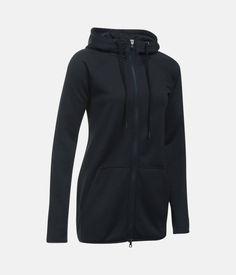 Women's UA Storm Armour® Fleece Long Full Zip, Black , zoomed image