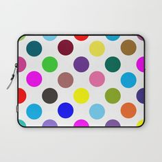 Good Vibes Only colorful polka dots Laptop Sleeve