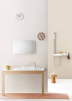 White bathroom furniture designed by the French brothers Bouroullec, for Axor. ©Hansgrohe