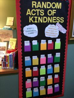 Random Acts of Kindness Library Display