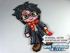 Harry Potter Custom Perler Bead Sprite Pixel Art Decoration. $15.00, via Etsy.