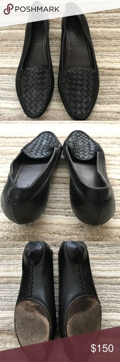 Bottega Veneta Kitten Heel Loafer Fabulous classic design, timeless shoe. Excellent used condition. 100% authentic - no box, but BV duster bag included with purchase. From a pet and smoke free home. Bottega Veneta Shoes Flats & Loafers