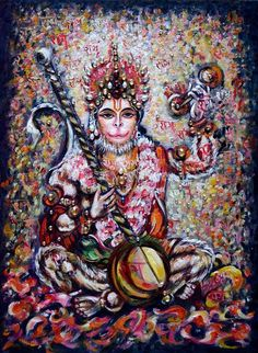 Hanuman ecstatic Joy in Kirtan Rama Devotee Original