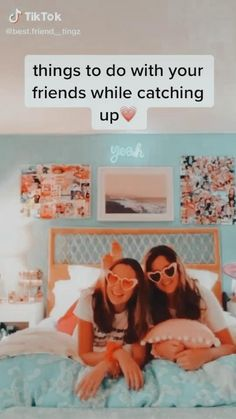 Teen Sleepover, Fun Sleepover Ideas, Sleepover Activities, Best Friend Gifs, Best Friend Poems, Best Friend Pictures, Crazy Things To Do With Friends, Things To Do At A Sleepover, Girl Friendship Quotes