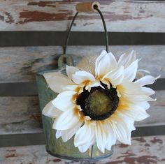 Sunflower Flower Girl Basket / Pail. $25.00, via Etsy.