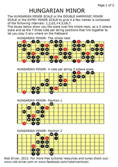 Gypsy Guitar Scales - Bing Images  I have to learn this.