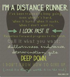 I'm a distance runner. #running