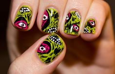 Halloween parties 2020 UK is on its way to come up! For the women finding the Halloween nails, 27 Best Halloween Nail Art Designs 2020 UK. Get Nails, How To Do Nails, Hair And Nails, Nail Art Halloween, Halloween Nail Designs, Halloween Makeup, Halloween Ideas, Nailart, Short Nails