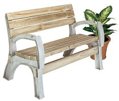 Simple Assembly Easy DIY Bench Love Chair or Bench Ends Sand Βeige AnySize for sale online 2x4 Bench, Patio Bench, Chair Bench, Beach Furniture, Furniture Deals, Outdoor Furniture, Furniture Projects, Love Chair, Love Seat
