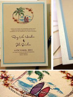 vintage hawaii wedding invitations - Google Search