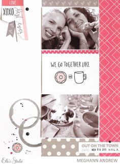 We Go Together Like... scrapbook layout by Meghann Andrew for Elle's Studio
