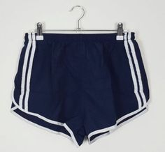 VINTAGE-90S-SPRINTER-HIGH-CUT-NAVY-WHITE-SHORTS-SPORT-ATHLETIC-RUNNING-GYM-XS