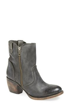 Free shipping and returns on Freebird by Steven 'South' Leather Bootie (Women) at Nordstrom.com. Decorative zippers highlight the slouchy silhouette of a rugged Western bootie cast in textured leather with an authentic, hand-distressed finish.