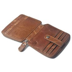 Men Women Genuine Leather Coin Bag Wallet Cowhide Card Holder
