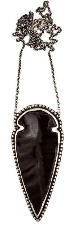 Pamela Love Obsidian Arrowhead Necklace