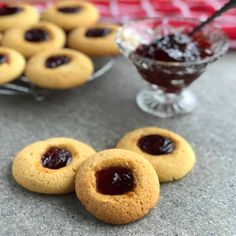These Easy Jam Drops are such a lovely biscuit to make. Soft biscuit drop with a lovely sweet jam centre, a classic recipe that is sure to please. Jam Recipes, Sweet Recipes, Baking Recipes, Recipies, Sweet Desserts, Baking Ideas, Vegan Desserts, Lunch Recipes, Yummy Recipes