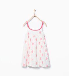 Neon embroidered dress from Zara Girls