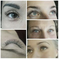 Natural set of single and volume lashes. Different shape for different set of eyes.