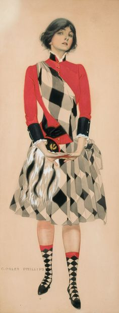 "Coles Phillips - original painting for sale by auction ""Hoot Mon"" (1910)"