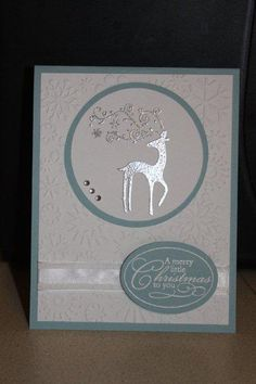 Read information on Handmade Christmas Cards Stamped Christmas Cards, Homemade Christmas Cards, Christmas Cards To Make, Christmas Deer, Xmas Cards, Handmade Christmas, Homemade Cards, Holiday Cards, Christmas Hanukkah
