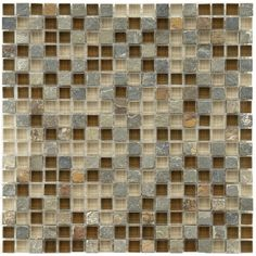 Somertile Reflections Mini-Brixton Stone and Glass Mosaic Tiles (Pack of 10) | Overstock.com