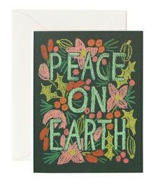 Colorful Peace on Earth Card
