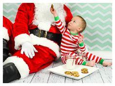 Christmas photo with Santa. {Jami West Photography}