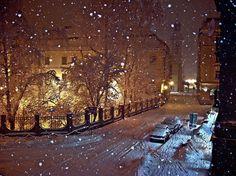 Paris in the snow.