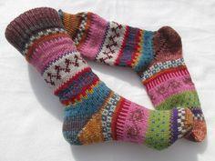 Socken - Bunte Socken Jonna Gr. 35/36 - ein Designerstück von Lotta_888 bei DaWanda