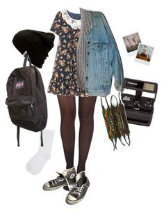"""Untitled #85"" by shenzi-uni ❤ liked on Polyvore featuring Pretty Polly, 3.1 Phillip Lim, Levi's, Converse, Polaroid, Vans, M&Co and JanSport"