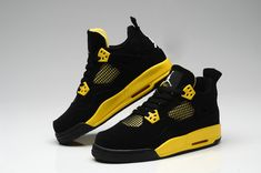 the latest 6918d 67799 yellow Black Women   Thor Air Jordan 4 Black Yellow For Women Zapatos,  Colores,