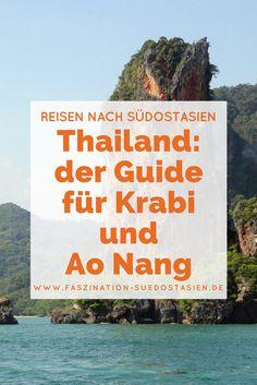 Wenn von Krabi gesprochen wird, ist meist Ao Nang oder eine der angrenzenden Buchten gemeint. Einst ein kleines Fischerdorf, hat sich der Küstenort im Laufe der Zeit zu einem touristischen Zentrum Thailands entwickelt.  Warum sich ein Besuch aber bis heute lohnt und Fotobeweise dafür, dass die Gegend zu den schönsten Regionen gehört, dieThailand zu bieten hat, findest du hier!  Klick auf den Pin und lass dich begeistern!
