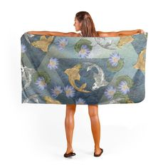 TOWELS from $33.50 Buy Gold And Silver, Koi, Bassinet, Towels, 50th, Stuff To Buy, Home Decor, Crib, Decoration Home