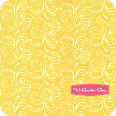 Floral Whimsy Yellow Flourishing Sprigs Yardage SKU# 2762-52