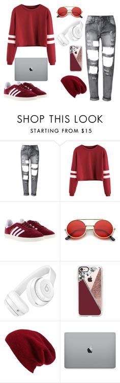 """""""maroon"""" by crazibunniz on Polyvore featuring adidas, ZeroUV, Beats by Dr. Dre, Casetify and Halogen"""